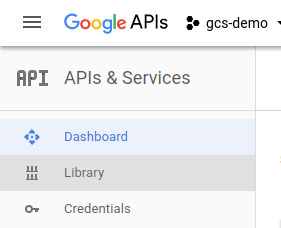 Google Cloud Library Menu