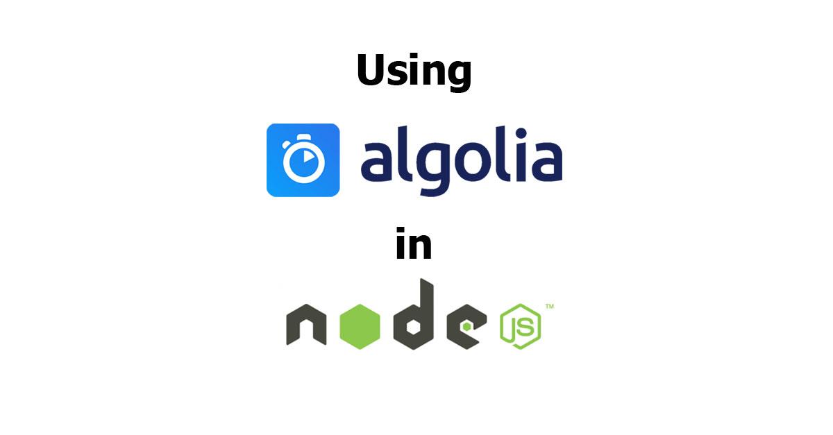 Using Algolia Search in Node js - Woolha