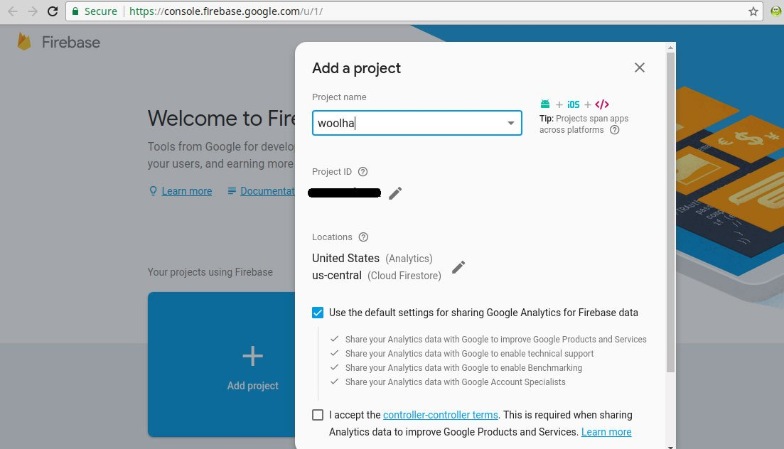 Firebase Console - Create Project