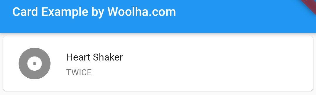 Flutter - Card Widget Example - Woolha