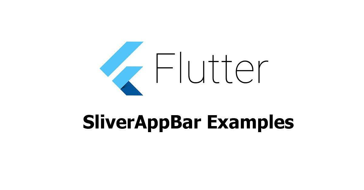 Flutter - SliverAppBar Examples - Woolha