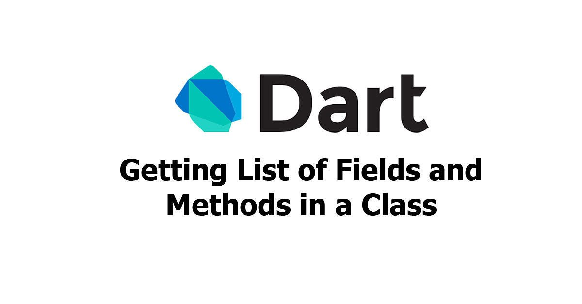 Dart - Getting List of Fields and Methods for a Class